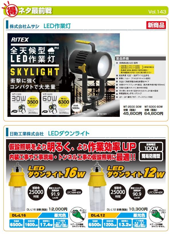 LED作業灯