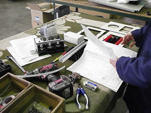 配電盤の設計製作工事